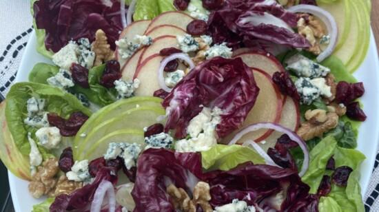 Autumn Apple Salad with Maple Walnut Vinaigrette