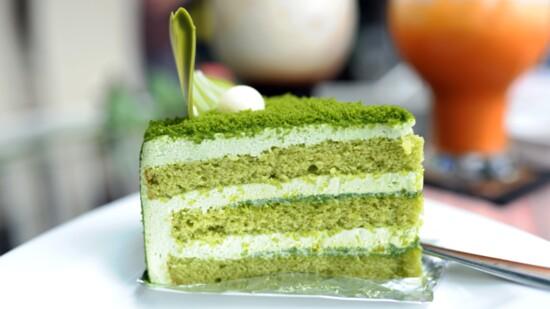 Enjoy A St. Patty's Day Celebration with Green Tea (Matcha) Cake