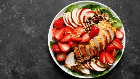 Grilled Chicken Breast & Strawberry Salad