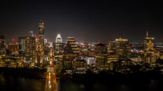 Kendra Scott Lights the Austin Skyline Yellow