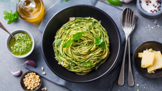 Mint Pea Pesto Pasta