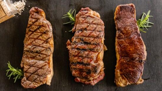 One steak, three ways