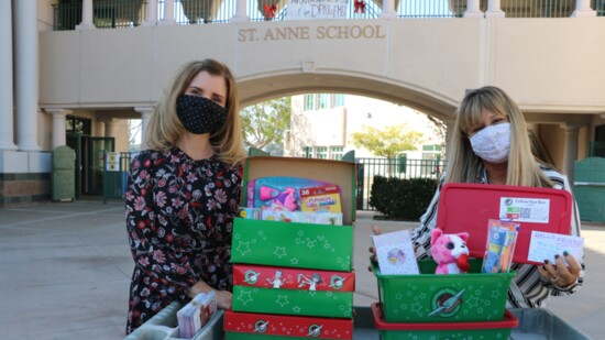 Operation Christmas Child at St. Anne School