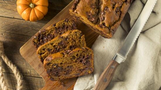 Pumpkin Chocolate Chip Bread for Thanksgiving