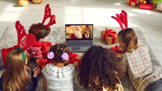 Santa Visits Via Zoom